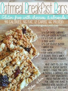 Oatmeal Breakfast Bars - Healthy Food For Weight Loss!