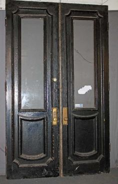 Antique double front entry doors at Good Old Things nyc