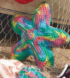 Beach Pillow Starfish free pattern