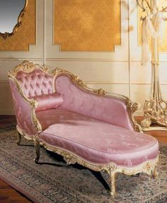 Outdoor chaise, one of the most versatile piece of furniture, especially, in the summer or while having sunbath. Imagine yourself sitting poolside on an outdoor chaise lounge. Pink Furniture, Shabby Chic Furniture, Furniture Decor, Furniture Design, Chair Design, Design Design, Design Ideas, Design Inspiration, Victorian Furniture