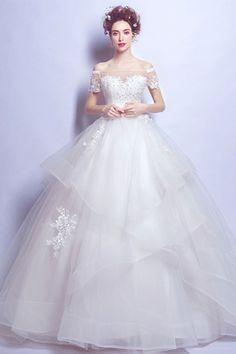 72ecd129c1 Lace Wedding Dress Off The Shoulder Wedding Dresses Uk