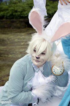 white rabbit cosplay
