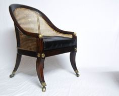 Regency Period Oak Bergere Library Chair or Bedroom Chair attributed t | jasonclarkeltd - Antique Vintage Decor