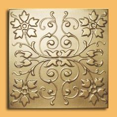 "50pc of (R139) Capri Gold (20""x20"" Foam) Ceiling Tiles - Covers about 135sqft  $150.00  Would need 10 more tiles"