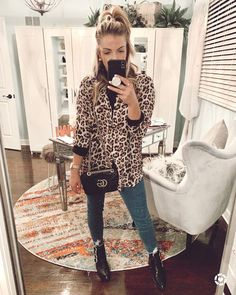 What can I say? I am on the animal print train with no sign of jumpin' off! I love this leopard print outfit paired with my favorite Buckle Boots and Gucci Purse.
