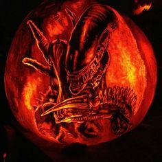 Pumpkin Art - Alien