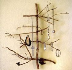 All u need are some tree branches from your backyard and a hot glue gun. Simple as that!