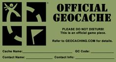 official #geocache #printables