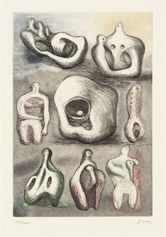 Find the latest shows, biography, and artworks for sale by Henry Moore. Often regarded as the father of modern British sculpture, Henry Moore's large-scale b… Plaster Sculpture, Abstract Sculpture, Sculpture Art, Sculpture Ideas, Sculpture Projects, Action Painting, Painting & Drawing, Figure Drawing, Henry Moore Drawings