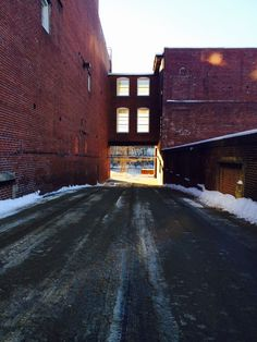 A alleyway through the mills