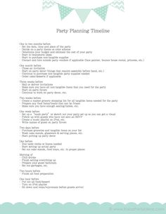 FREE party planning timeline checklist! Via Kara's Party Ideas karaspartyideas.com #party #planning #ideas