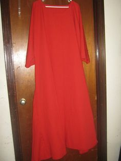 XL  2X Faux Linen True Red Dress by AlessandraGoldKey on Etsy, $18.00