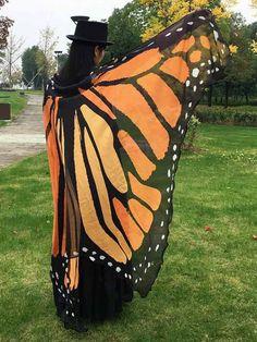 Summer Women Chiffon Butterfly Wing Printed Beach Shawl Wraps @woohooshop