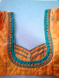 Deepak New Saree Blouse Designs, Patch Work Blouse Designs, Simple Blouse Designs, Stylish Blouse Design, Blouse Neck Designs, Sleeve Designs, Churidar Neck Designs, Designer Blouse Patterns, Saree Models