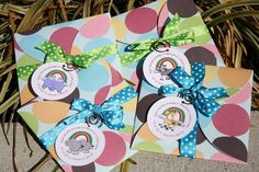 Noah's Ark Party Invites - This is a photo taken of the exterior of the invites!