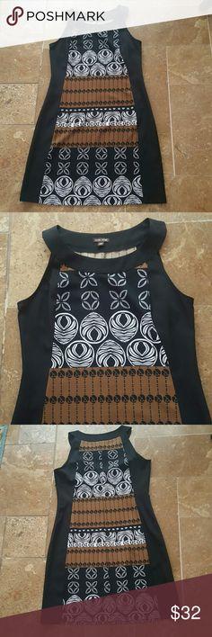 Tribal print dress Sleeveless tribal print dress. Side zipper. Chest 19 inches. 39 inches long. Vior Dresses