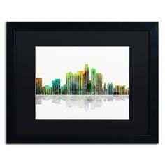 Los Angeles California Skyline by Marlene Watson Framed Graphic Art