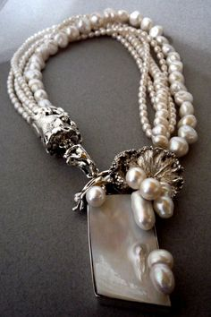 Silver Collar with M beauty bling jewelry fashion