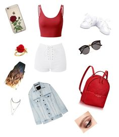 """red rose"" by lisacarmen13 on Polyvore featuring Topshop, Doublju, Alexander Wang, Illesteva and Disney Couture"