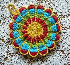 Crochet Together: Flower potholder