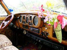 1958 Rolls Royce Silver Cloud Hippie Glam Art Car Magnolia Pearl - dashboard