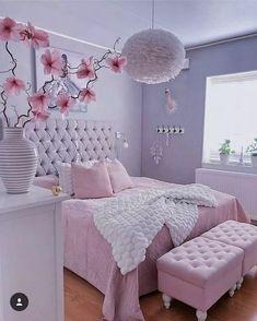 Best Blush Pink And Lovely Bedroom Design Ideas Part 1 ; pink bedroom ideas for women; pink bedroom ideas for kids; pink bedroom ideas for adults; pink bedroom grown up Cute Bedroom Ideas, Cute Room Decor, Girl Bedroom Designs, Room Ideas Bedroom, Home Decor Bedroom, Cozy Bedroom, Design Bedroom, Bedroom Modern, Magical Bedroom