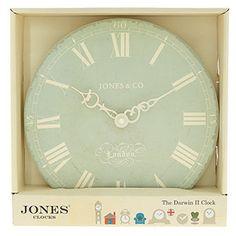 Jones Clocks Green Analogue Wall Clock