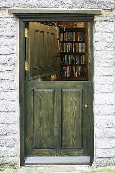 door into a 2nd hand book shop