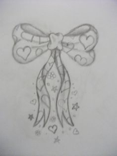 Bow with Hearts Tattoo Design by ~average-sensation on deviantART