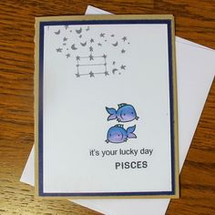 A personal favorite from my Etsy shop https://www.etsy.com/listing/218774613/custom-handmade-astrology-card-pisces