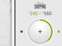 Shopping round slider by Jonathan Lochhead #webdesign #element #trends
