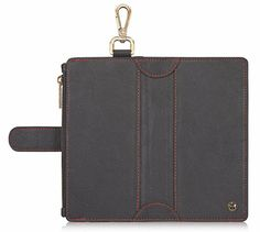 CaseMe 009 iPhone 6 Plus/6S Plus Zipper Wallet Metal Buckle Detachable Folio Case Black