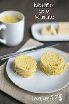 A low carb gluten free minute microwave muffin in a mug that take less than two minutes to prepare and cook. A tasty way to start the day! Keto Atkins Diet Bread Recipe