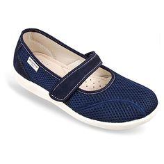 Pantofi ortopedici de vara, pentru femei, OrtoMed 6089-T99. Gama de marimi fabricate: 36-42. Pantofii sunt fabricati din material textil tip fagure in combinatie cu microfibra ( calcai si bareta ). Bareta este reglabila, fiind prevazuta cu velcro/arici. Calapod mai lat decat cel standard.