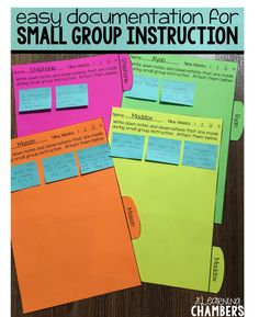 Make the most of your small group instruction with these easy to use student documentation forms. Love this idea- use dividers to seperate them into reading groups in a binder, easy to switch as groups change Teacher Organization, Teacher Tools, Teacher Resources, Small Group Organization, Guided Reading Organization, Reading Resources, Special Education Organization, Resource Teacher, Resource Room