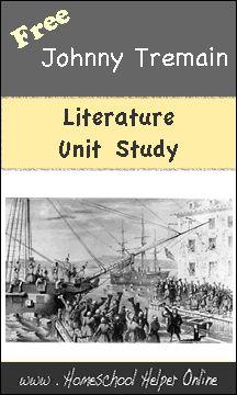 Free Johnny Tremain Literature Unit Study - Homeschool Helper Online