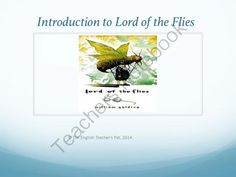 Lord of the Flies Introduction PowerPoint from The English Teacher's Pet on TeachersNotebook.com -  (15 pages)  - Included in this 15 slide PowerPoint of the Lord of the Flies is a background for William Golding, the WWII historical perspective and allusions from today's pop culture, an introduction to the characters and themes to look for while reading, symboli