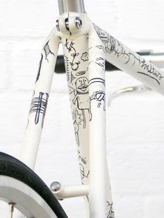 Just like on paper! This is too cute omg. Imma do this to my bike one day
