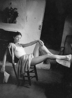 kate moss by françois deconinck for marie claire japan august 1992 — Lacoste. France