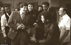 In the locker room with Sylvester Stallone before the Earnie Shavers fight, Madison Square...