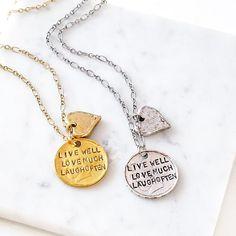 #livewelllovemuchlaughoften #livelovelaugh #alisamichelle #alisamichelledesigns #instadaily #handstampedjewelry #handmadejewelry
