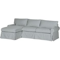 Leather Sectional Sofa Pottery Barn PB Basic Right Arm Sofa with Chaise Sectional Slipcover liked on Polyvore featuring home furniture sofas indigo slip cover sofa