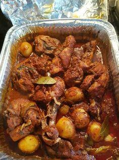 Pollo con jugo al horno
