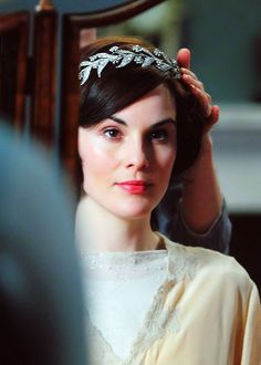 Michelle Dockery as Lady Mary in Dowton Abbey created by Julian Fellowes