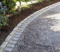 Image result for gravel driveway cobblestone edging