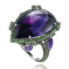 Amethyst and tzavorite ring by Chopard