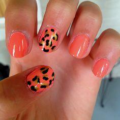 Cheetah nails! Love
