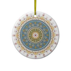 Vintage Islamic Pattern Design Christmas Ornaments