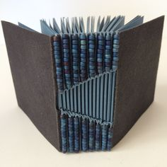 Cave handmade paper cover with Fabriano Ingresheavy weight pages.Sewn with royal blue waxed-linen thread