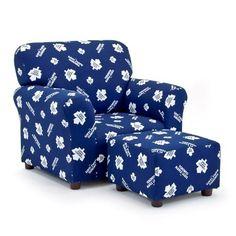 Kidz World Furniture Toronto Maple Leafs Club Chair & Ottoman set - Boy Room, Kids Room, Maple Leafs Hockey, Nhl Hockey Jerseys, Chair And Ottoman Set, Toronto Maple Leafs, Upholstered Furniture, My Living Room, Club Chairs